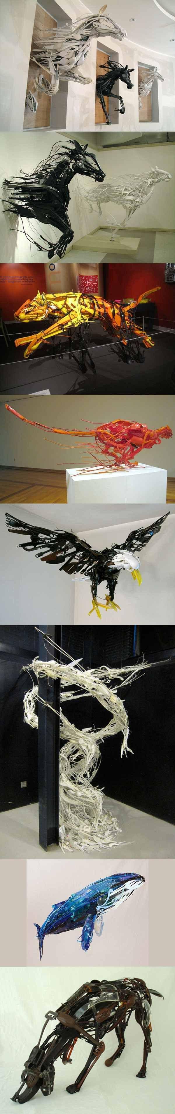 Sculpture recyclé | Sayaka Ganz