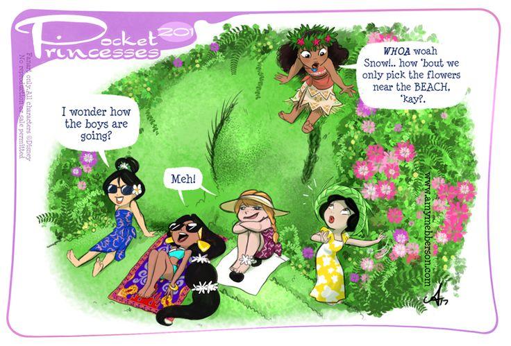 Pocket Princesses 201: Vacation Please reblog, don't repost, edit or remove captions Facebook - Instagram