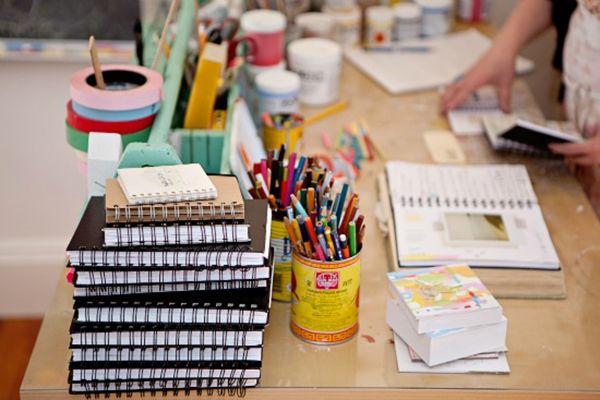 sketchbooks poppy DIY Storage, Arist Prompts & Sarah Ahearn Bellemare