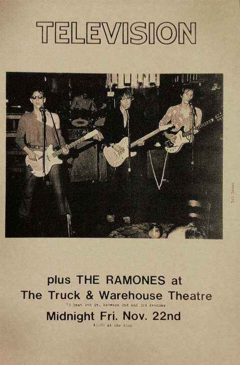 Television and The Ramones | 35 Old Punk Flyers That Prove Punk Used To Be So Cool