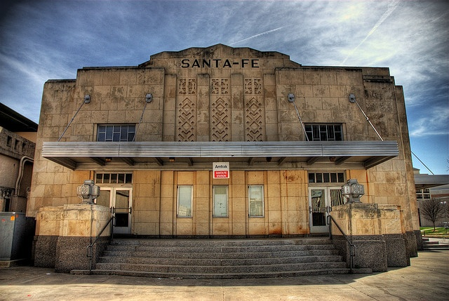 The Santa Fe train station. Another historical landmark in downtown OKC.