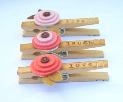 cute clothes pin idea