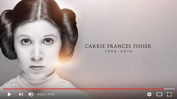 スターウォーズ公式YouTubeチャンネルがキャリーフィッシャーのトリビュート動画を公開 ハリソンフォードら関係者のメッセージも!!