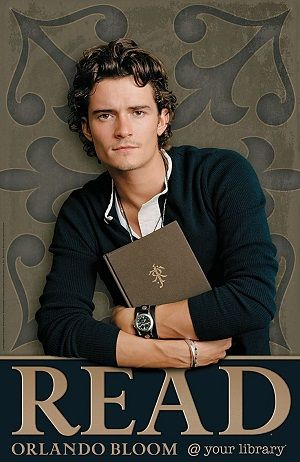 Image result for orlando bloom reading