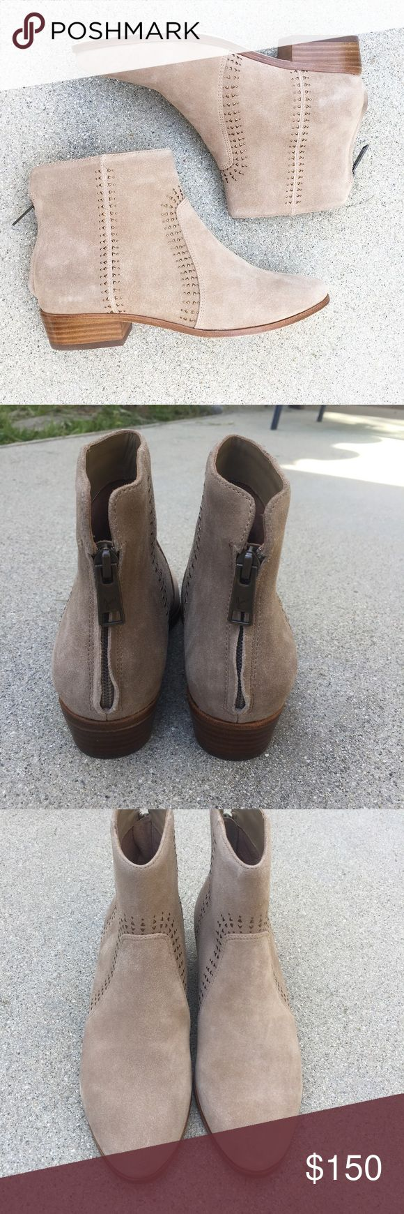 Joie Lucy Embellished Suede Tan Booties New without box. Size 37 or 7. Joie Shoes Ankle Boots & Booties