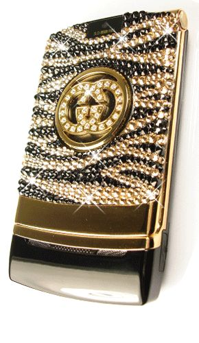 Gucci Phone. Design: Zebra Print in Golden Shadow and Cosmojet. {scroll to page 18}