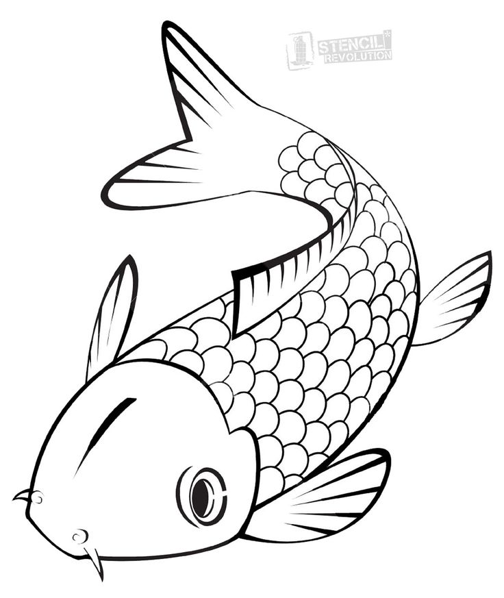 24 best fish images on pinterest pisces fish and animales for Koi fish stencil