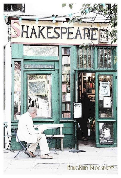 Shakespeare & Co. Bookstore ~ Paris - if I ever go to Paris with my dad, I MUST go here (: