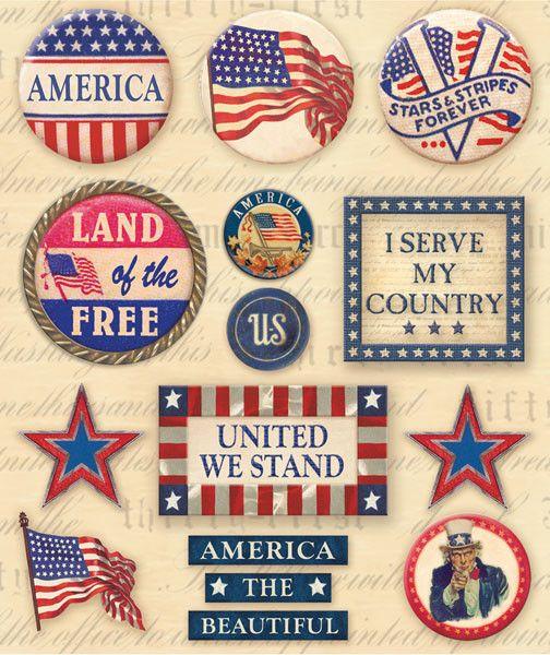 Sticker Medley - Patriotic Words