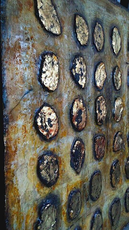 lbf, wax pigments on wood