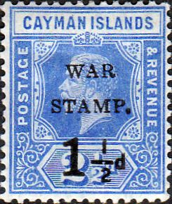 Cayman Islands 1917 War Stamp Surcharge SG 53 Fine Mint SG 53 Scott MR1 Condition Fine LMM Only one post charge applied on multipule purchases