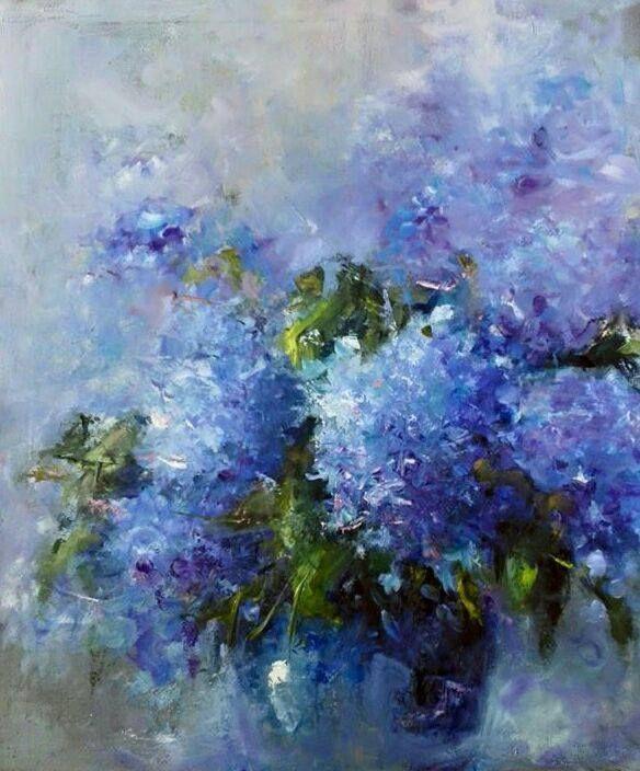"""Ewa Lanrecz, """"Autumn hudrangeas"""" – #Autumn #Ewa #hudrangeas #Lanrecz"""