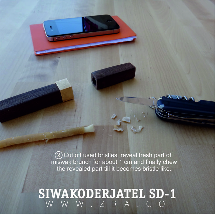 Guide on using miswak, #2. siwak, miswak, siwakoderjatel, miswakholder, sd-1, zahra, oralcare, organic tooth brush