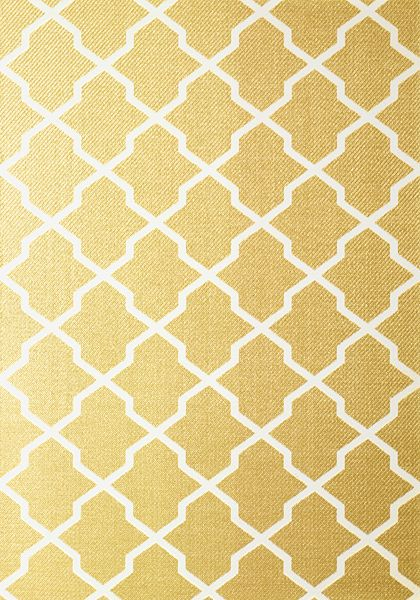 Carolyn Trellis #wallpaper in #metallic #gold from the Caravan collection. #Thibaut