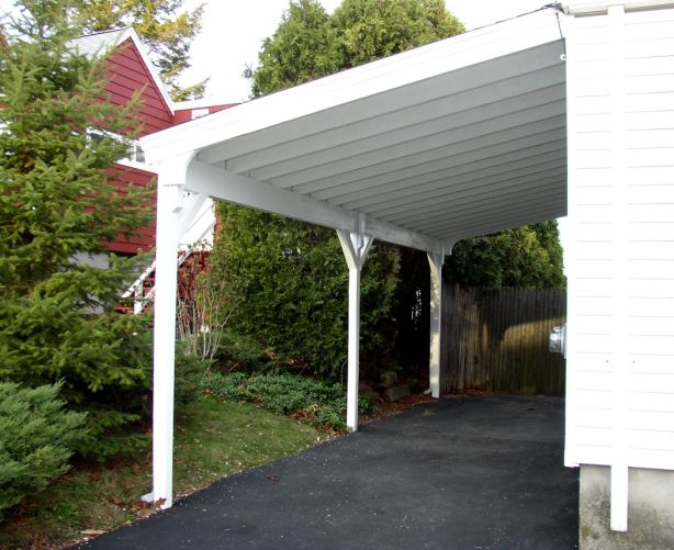 Attached carport