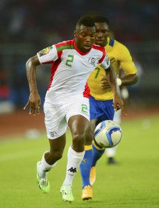 Steeve Yago of Burkina Faso during the 2015 Africa Cup of Nations football match between Burkina Faso v Gabon at Bata Stadium in Bata, Equatorial Guinea on 17 January 2015 ©Barry Aldworth/BackpagePix