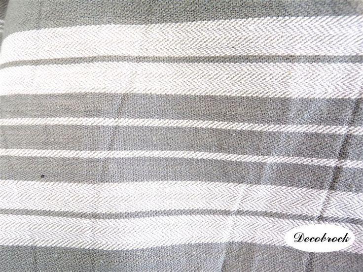 Grand tissu toile à matelas déco vintage France vintagefr fabrication rideaux nappe coussins diy loisirs créatifs de la boutique decobrock sur Etsy