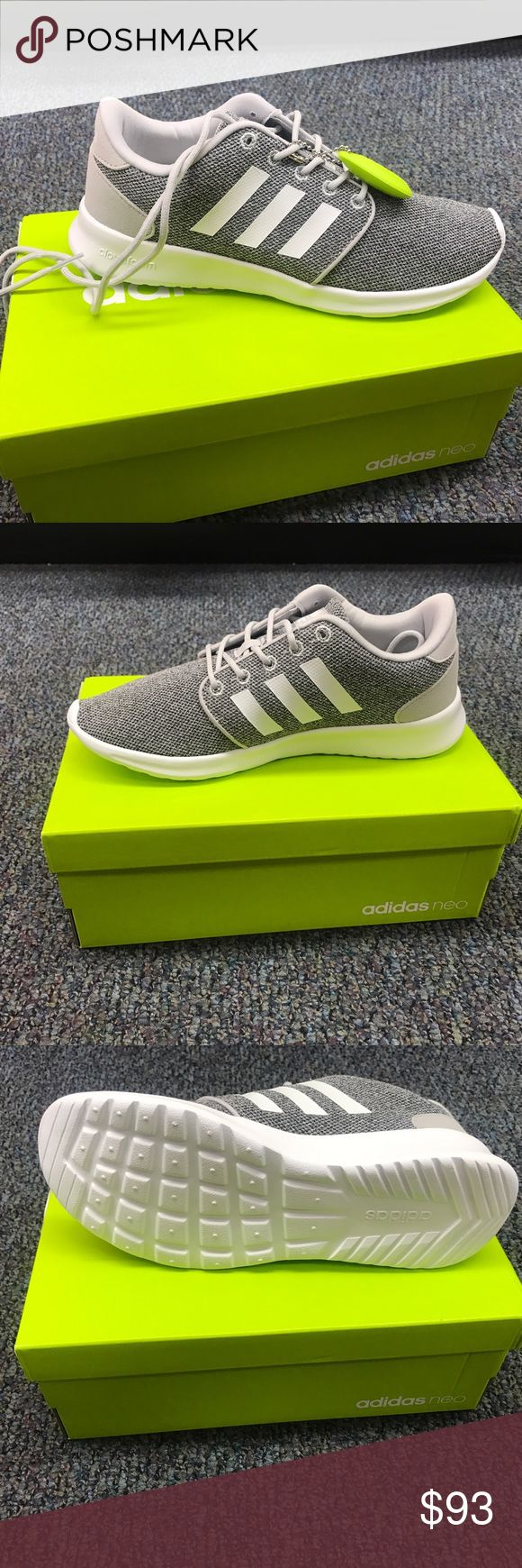 Adidas CloudFoam QT Racer W - Brand: Adidas - Style: Adidas CloudFoam QT Racer W - Condition: Brand New In Original Box - Style Code: AW4313 - Size: Various Sizes  - Color: Gray / White  - Please Purchase With Confidence! - All shoes are acquired from Adidas or certified retailers of Adidas ONLY! - We only work with 100% authentic shoes of A+ quality. - PLEASE CONTACT US WITH ANY QUESTIONS OR CONCERNS REGARDING THIS PRODUCT. adidas Shoes Sneakers