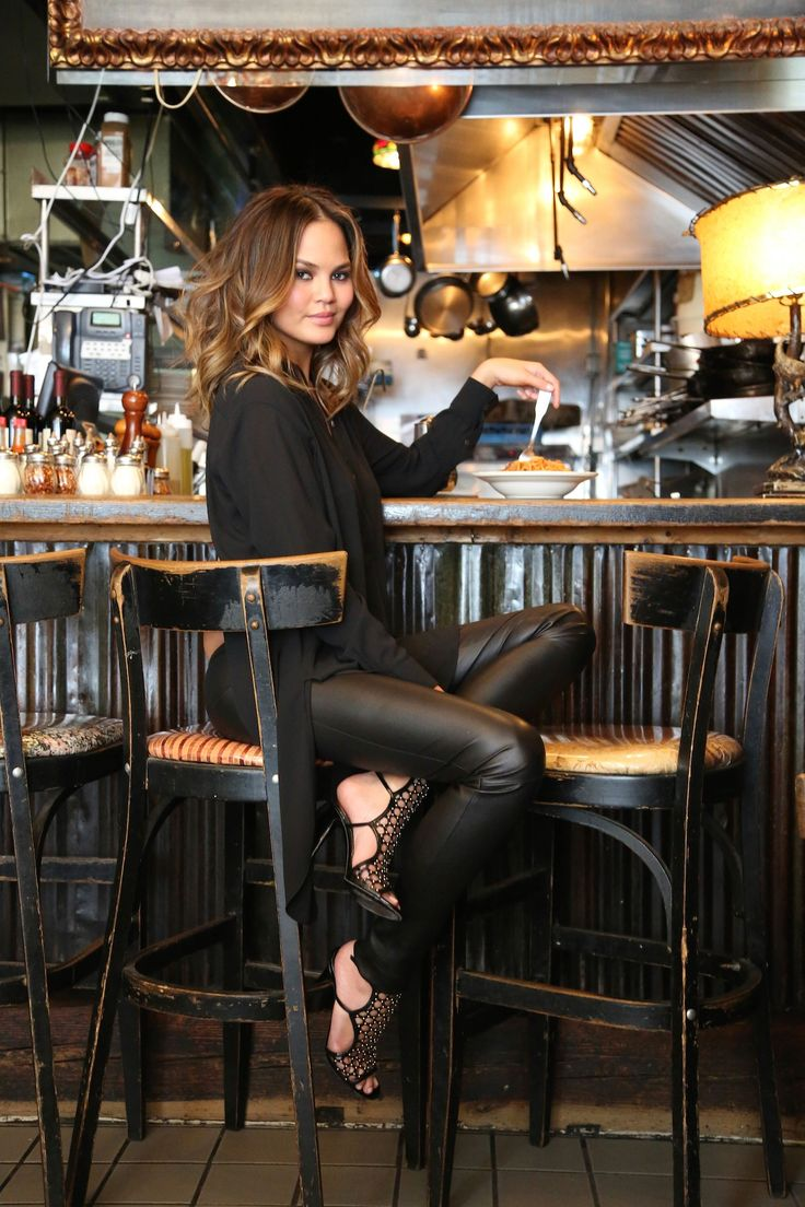 Chrissy Teigen wears #TamaraMellon Submission Sandal for her New Potato interview.