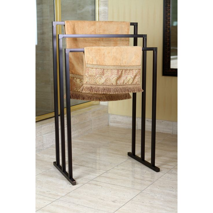 With its stylish European design, the Pedestal 3-tier Towel Rack will stand out in your bathroom. The 3 tiers each provide up to 2 feet of space that can be used to hang towels, clothing, or other accessories.