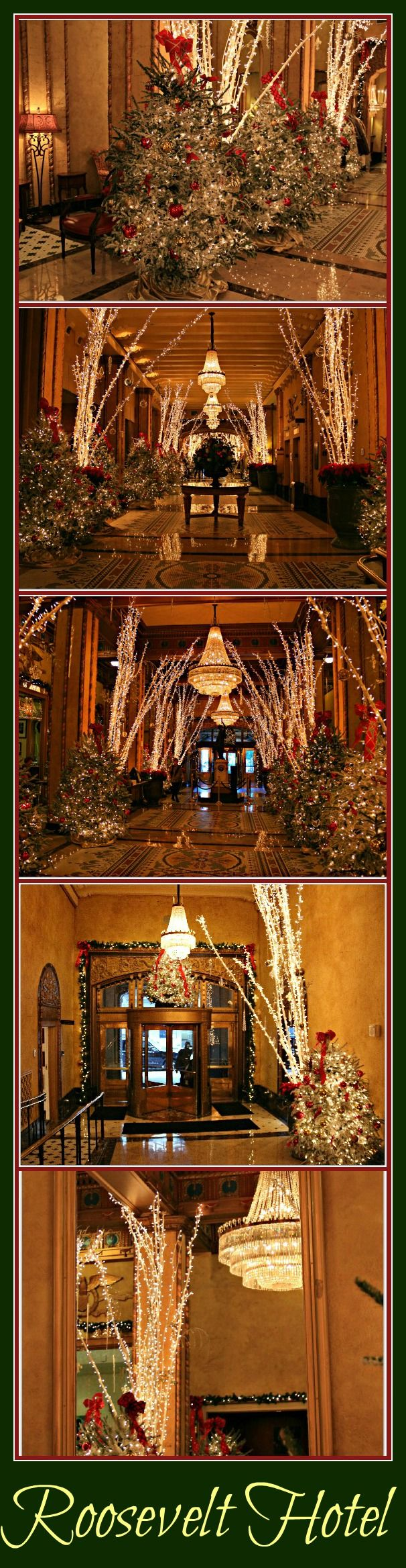 Christmas time at the Roosevelt Hotel in New Orleans