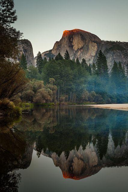 Half Dome Reflection, Yosemite #dreamplaces