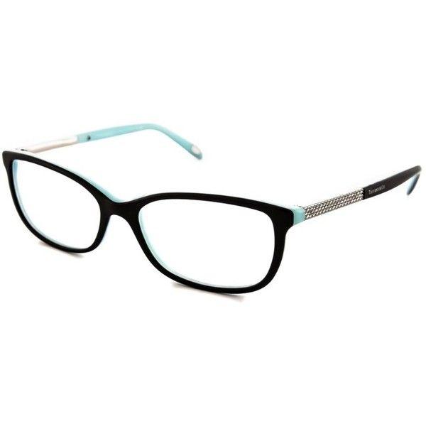 Tiffany Tiffany Tf2079b Optical Frames (405123401) (1.060 BRL) ❤ liked on Polyvore featuring accessories, eyewear, eyeglasses, black, clear eye glasses, wide glasses, tiffany co eyeglasses, clear lens glasses and square eyeglasses