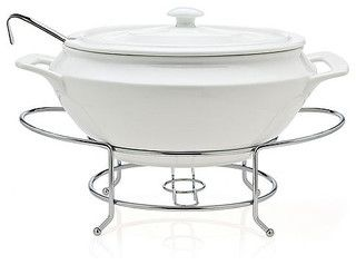 Godinger Serveware, Cucina Soup Tureen with Ladle - contemporary - serveware - by Macy's