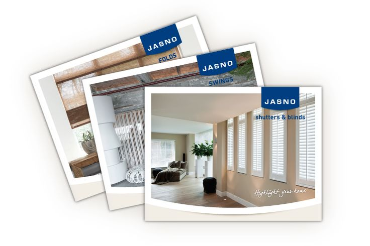 3 brochures de JASNO produits - Volets intérieurs, Stores vénitiens et américains, Lamelles verticales