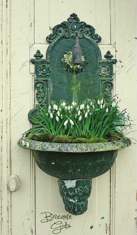Gorgeous use of an old fountain