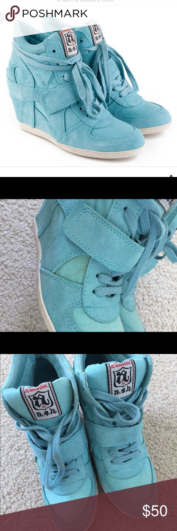 Ash sneakers blue suede Pre- owned please look at the pictures. Size 37 Ash Shoes Athletic Shoes