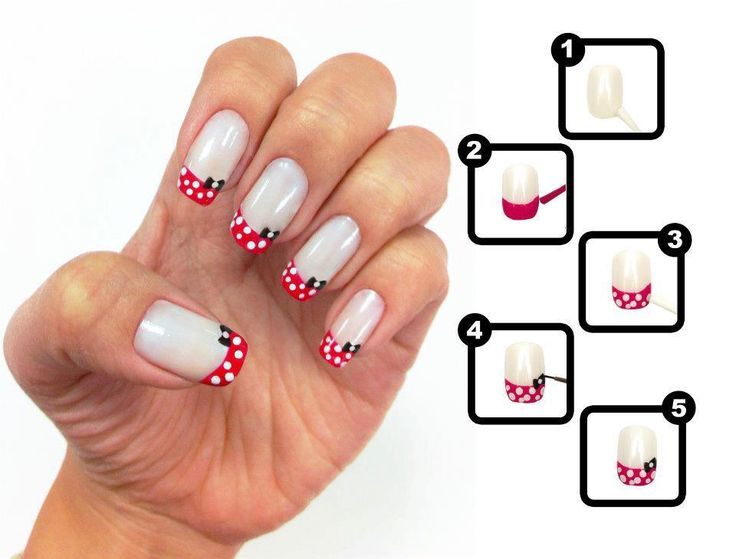 Lindo.: Of An, Polka Dots, Nails Design, French Manicures, Nailart, Nail, Minnie Mouse, French Tips, Nails Art Design