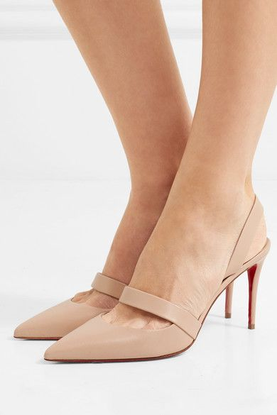 e980fe43bfc Christian Louboutin - Actina 85 leather slingback pumps | Shoes ...