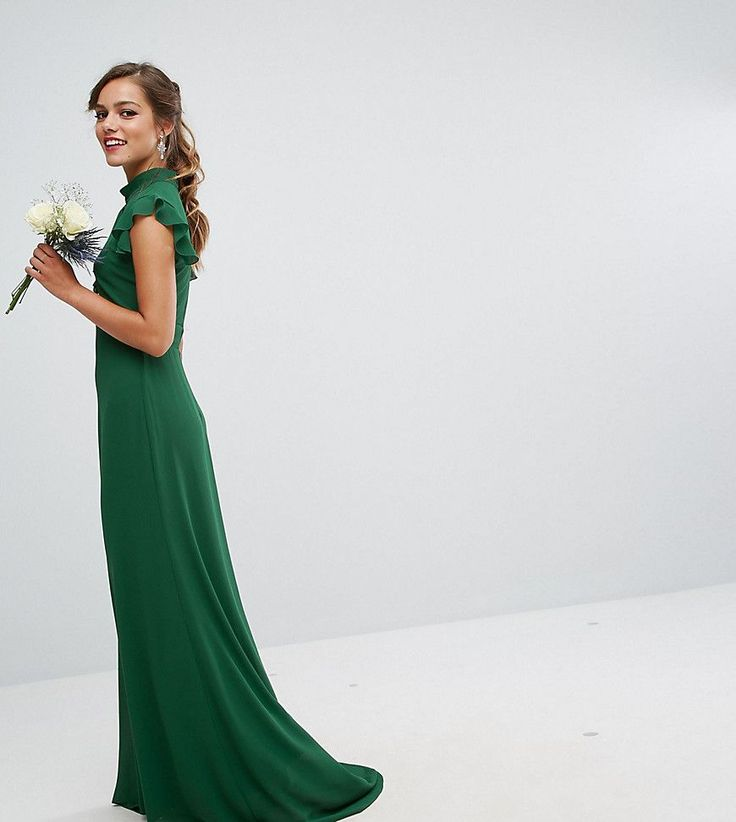 Get this TFNC Petite's tube dress now! Click for more details. Worldwide shipping. TFNC Petite WEDDING Flutter Sleeve Fitted Maxi Dress in Chiffon - Green: Petite dress by TFNC, Lined chiffon, High neck, Cut-out detail, Flutter sleeves, Frill detail, Zip-back fastening, Slim fit - cut close to the body, Hand wash, 100% Polyester, Our model wears a UK 8/EU 36/US 4 and is 163cm/5'4 tall. London label TFNC is renowned for its standout occasionwear. Step it up in sparkly fabrics, embellished…
