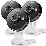 Funlux 3 Pack Wireless 720p HD – 115°Wide Viewing Angle – Smart Home WiFi IP Security Camera System with 2 – way Audio, Infrared Night Vision and Motion Detection   √ Easy Setup in Minutes – Plug in the wireless security cameras, download Free Funlux app, add the device...