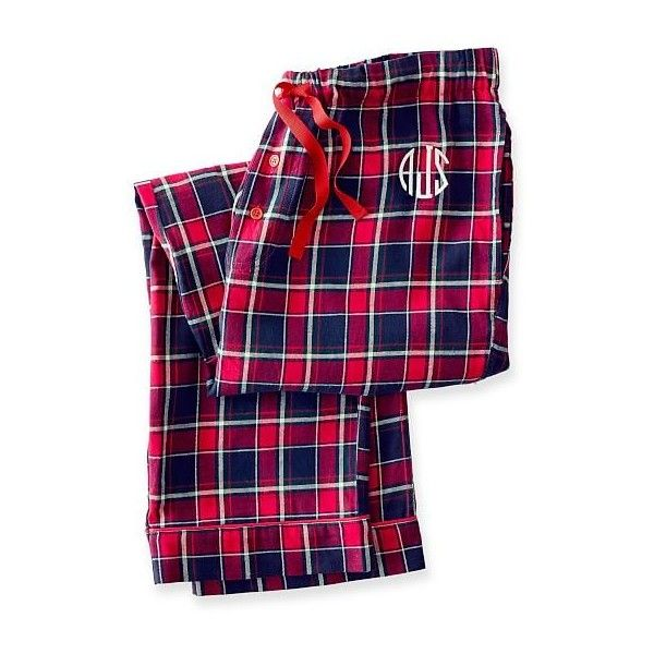 Mark & Graham Women's Woven PJ Bottoms, Extra-Large, Red Plaid ($69) ❤ liked on Polyvore featuring intimates, sleepwear, pajamas, cotton pajama bottoms, plaid pajamas, cotton pajamas, christmas pajamas and plaid pjs