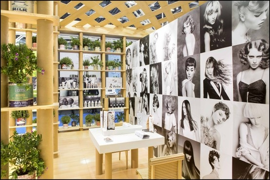 Under the Davines booth canopy at Cosmoprof 2013! Images from Angelo Seminara's exclusive Davines collections adorn the inside walls. Do you recognize some of them?
