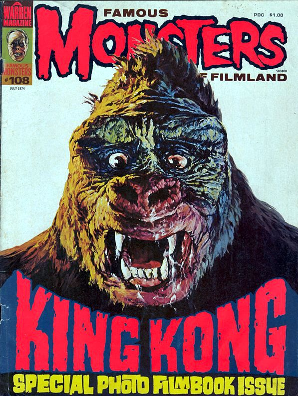 Famous Monsters of Filmland - issue #108 - 1974 - King Kong