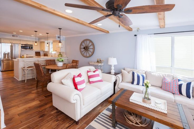 Tour the beach house renovation from hgtv 39 s beach flip for David bromstad living room designs