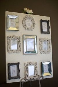 Variety of frames for seating plan board