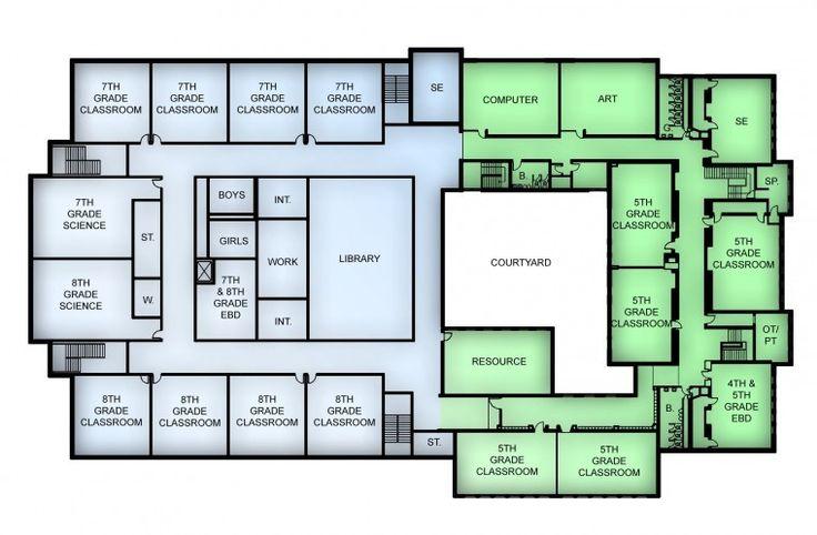 elementary school building plans floor plan | okul | pinterest