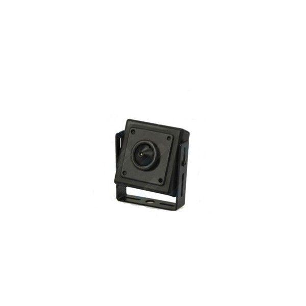 """Esta mini cámara a color con micrófono posee un sensor ¼"""" Sharp CCD con una resolución de 420 líneas en TV. Su pequeño tamaño hace que esta mini cámara sea ideal para poner en cualquier lugar. Esta mini cámara está protegida de los agentes externos debido a su carcasa metálica. Requiere muy poca iluminación (1 lux). La conexión de video y audio se hace mediante cable RCA."""