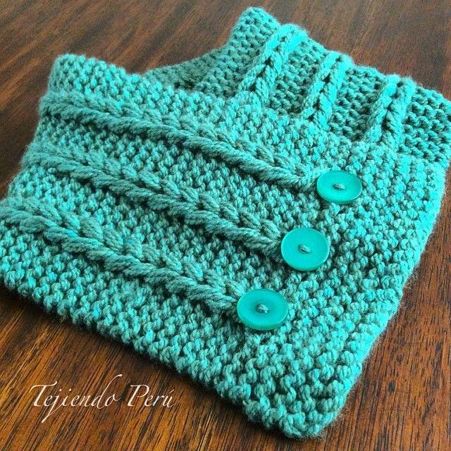 Con este abrigador cuello mostramos como hacer estas lindas trenzas de vainillas en el tejido en dos agujas o palitos!. El paso a paso ya está en nuestra web: www.tejiendoperu.com #tejidos #knit #damas #cuello #neckScarf