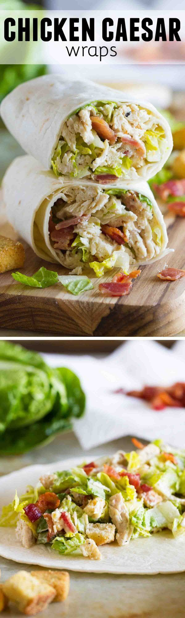 Lunch doesn't get much easier than this Chicken Caesar Wrap. Full of flavor, this wrap comes together easily with pre-cooked shredded chicken.: