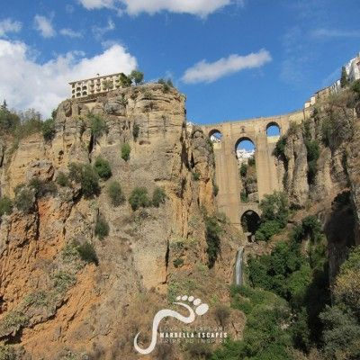 Puente Nuevo, Ronda seen from the El Tajo Gorge  #ronda #andalucia #malaga #spain #travel #tours #marbella    http://marbellaescapes.com/tours/ronda-juzcar/