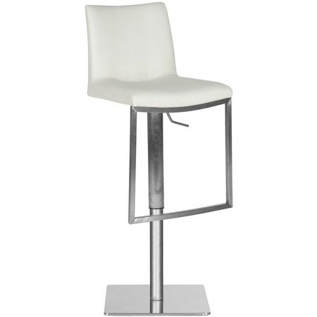 Found it at AllModern - Fox Ember Adjustable Barstool in White http://www.allmodern.com/deals-and-design-ideas/p/The-Bar-Stool-Clearance-Fox-Ember-Adjustable-Barstool-in-White~FV45259~E16136.html?refid=SBP.ERkQrDgGelDEO1GPAnsVJHOGEyhJnU3GobCVti1QD6k