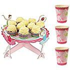 anm0361Online Cake with 1Etage + 12Cups Cardboard Cake Stand Multicoloured 34x 34x 16cm