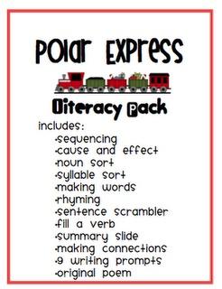 Polar Express literacy pack