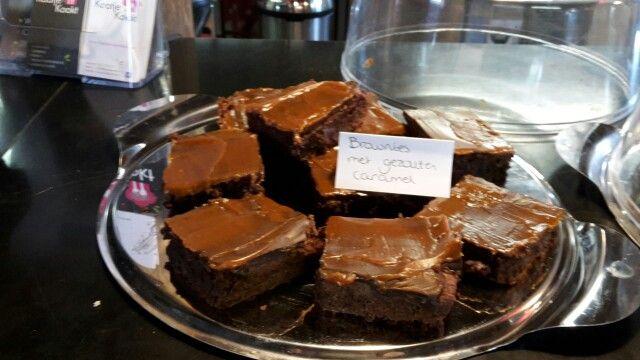 Brownies met gezouten caramel