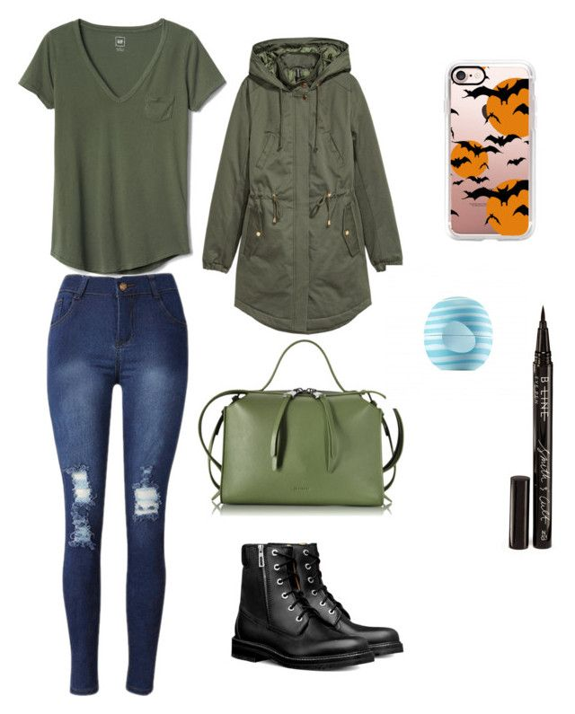 """Untitled #20"" by sofiaskvrekova on Polyvore featuring H&M, Gap, Jil Sander, Casetify, Smith & Cult and Eos"
